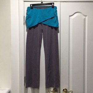 Lucy M grey turquoise skirted pants worn once